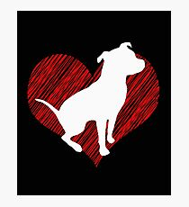 Gift for Pitbull lovers I love Pittbull Photographic Print