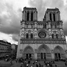 Entrance of Notre Dame Cathedral – Paris, France by Norman Repacholi