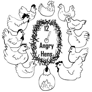 12 Angry Hens by lecase19