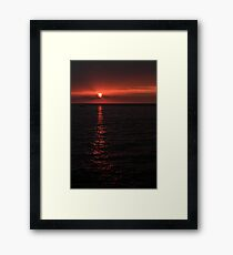 Kona Sunset Framed Print
