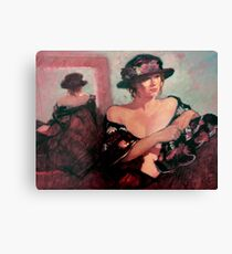 The Flower Hat : oil painting Canvas Print