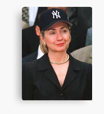 Hillary Clinton Yankees Hat / Rihanna T-Shirt Canvas Print