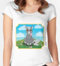 Flower Pony Women's Fitted Scoop T-Shirt