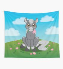 Flower Pony Wall Tapestry