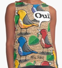 The birds of Jardin du Luxembourg Sleeveless Top