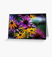 Cone Flower Flair Greeting Card