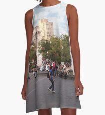 Washington Square, Greenwich Village, NYC, NY A-Line Dress