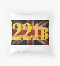 221 B Baker Street Throw Pillow
