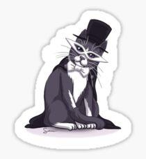 Tuxedo Cat (Tuxedo Mask) Lavender Gradient Sticker