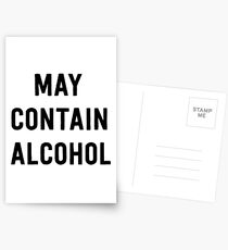 May contain alcohol Postcards