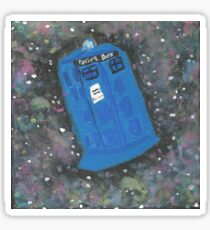 Doctor Who - The TARDIS in Space Sticker
