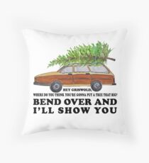 Bend over and I'll show you Throw Pillow