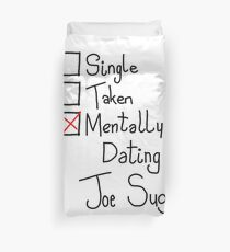 Mentally Dating Joe Sugg Duvet Cover