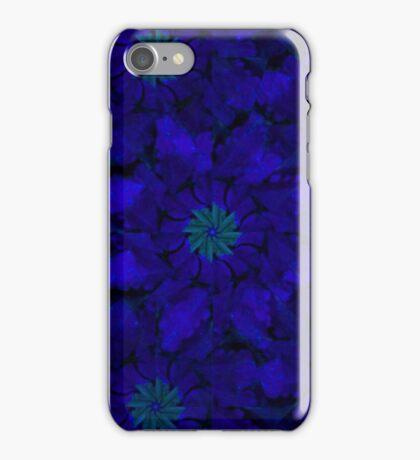 Blue Pinwheel Abstract iPhone Case/Skin