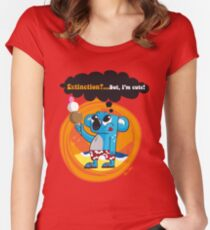 Extinction?...But, I'm cute! Fitted Scoop T-Shirt