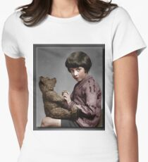 Christopher Robin and Pooh Womens Fitted T-Shirt