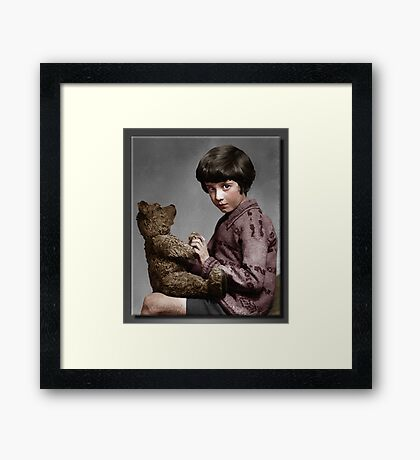Christopher Robin and Pooh Framed Print