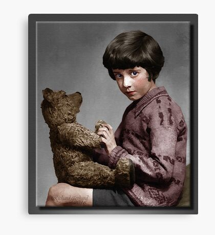 Christopher Robin and Pooh Canvas Print