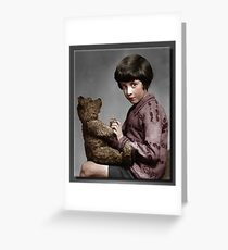 Christopher Robin and Pooh Greeting Card