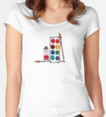 Let's Paint Women's Fitted Scoop T-Shirt