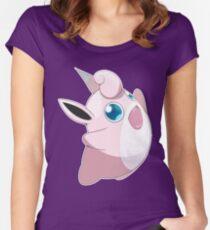 #40 - Wigglytuff Women's Fitted Scoop T-Shirt