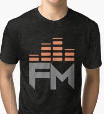 Fearless Motivation Orange Logo Large Tri-blend T-Shirt