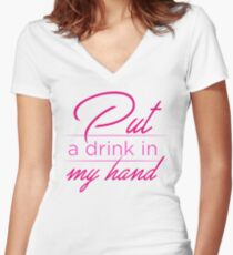 PutDrink Women's Fitted V-Neck T-Shirt