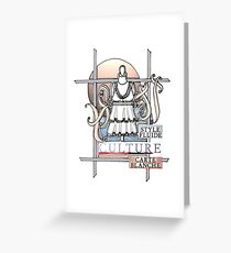 Carte blanche stationery redbubble fashion drawing flowing style culture carte blanche greeting card m4hsunfo