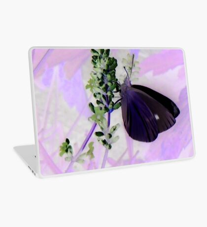 Large White on Lavender Laptop Skin