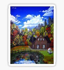 autumn reflections Sticker