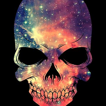 Universe - Space - Galaxy Skull von badbugs