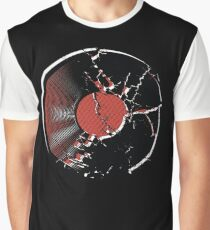 Music Vinyl Record Explosion Comic Style Graphic T-Shirt