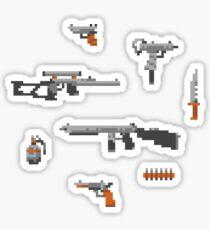 Weapons pixel set Sticker