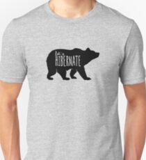Hibernate Bär Lustig Slim Fit T-Shirt