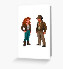 Indiana Jones & Sophia Hapgood Greeting Card