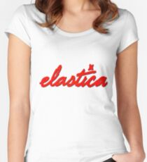 Elastica Logo (In RED)  Women's Fitted Scoop T-Shirt