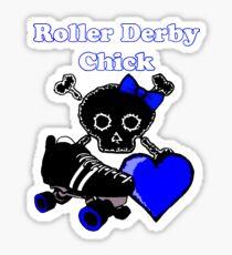 Roller Derby Chick (Blue) Sticker