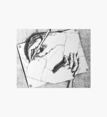 Souvenir from Netherlands - Escher's hands Art Board