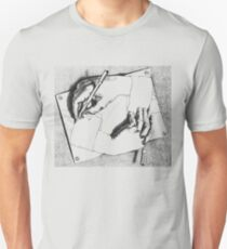 Souvenir from Netherlands - Escher's hands Unisex T-Shirt