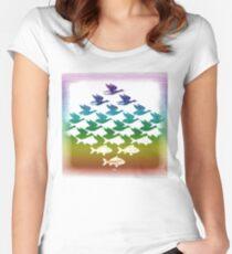 Souvenir from Netherlands:  Escher Women's Fitted Scoop T-Shirt