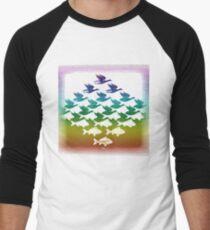 Camiseta ¾ bicolor para hombre Recuerdo de Holanda: Escher