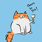 Cheers to you! Kitty cat by zoel