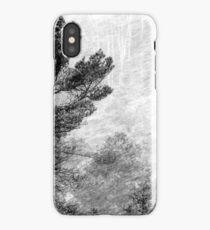 9.11.2016: Pine Trees in Snowstorm iPhone Case