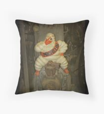 Vintage Michelin Man Throw Pillow