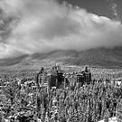 Castle among the Clouds in grey (1) by James Anderson