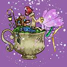 Tertia The Teacup Planter Fairy by TeelieTurner