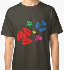 Pinwheel whirligigs Spoked wheel coloured Classic T-Shirt