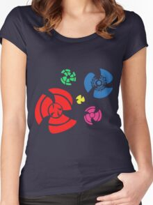 Pinwheel whirligigs Spoked wheel coloured Women's Fitted Scoop T-Shirt
