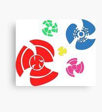 Pinwheel whirligigs Spoked wheel coloured Canvas Print