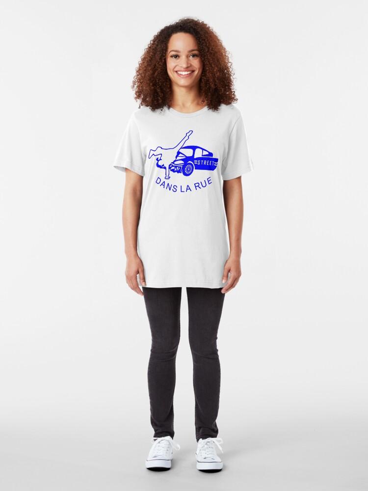 "Alternate view of ""Dans La Rue"" (B) Slim Fit T-Shirt"